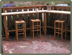 Inexpensive patio bar