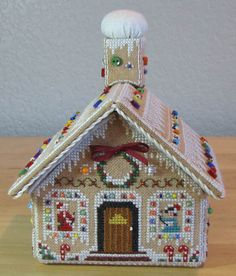 Gingerbread house; lovely. Not sure I would go to all this trouble, but someone else might like it.
