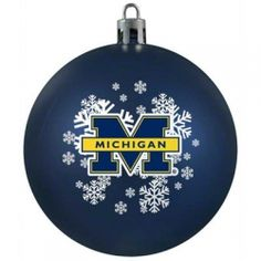 Do you or someone you know love The Michigan Wolverines? Why not decorate your house for the holiday season in Michigan blue and yellow decorations....