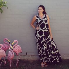 Wearing Trelise cooper for #everydaystyle #animalprint  #maxi