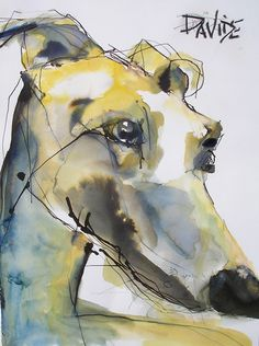 (Obeche limed wax or matte black finish) animal paintings, animal drawings, Animal Paintings, Animal Drawings, Art Drawings, Watercolor Animals, Watercolor Art, Zee Dog, Illustrations, Illustration Art, Greyhound Art