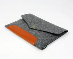 Genuine Leather Hand Custom Made Felt iPad 1 2 3 4 Case New iPad Sleeve Cover iPad Mini Holder Real Leather Handmade  new ipad :E1137-MGra01 via Etsy