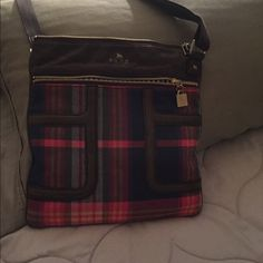 Messenger bag Plaid brown /red /grey messenger bag very good condition Lamb Bags Crossbody Bags