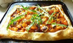 Elderly butternut squash still in peak condition so ... roasted butternut tart.