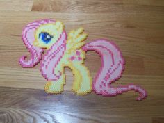 Fluttershy My little Pony perler beads  by simplyputmyself on deviantart