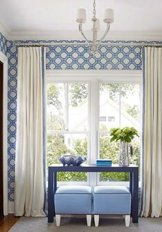Beautiful Linen Curtains with Samuel & Sons Trim by @warminviting (Libby Langdon Interiors)! We can add any little detail to your curtains...www.bqdesign.com.au #custom
