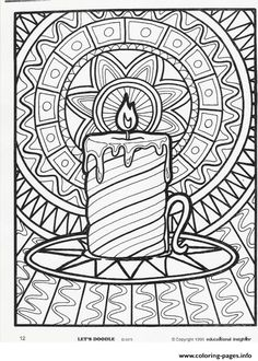15 Best Christmas Adults Coloring Pages Images Christmas