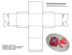 Gift box butterfly template
