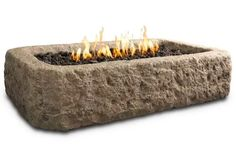 If you live in a place where you don't have a ton of yard space, this is the fire pit for you! The Real Flame Antique Stone Rectangular Propane Fire Pit offers a slim and sleek design that will keep your summer nights roaring all night long.