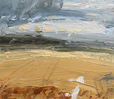 Louise Balaam, 'From West Kennett, Summer Field', oil on panel 20 x 23cm
