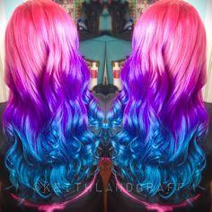 #btc_pics #btcpics #hairdressermagic #vividhair #brightcolor #hair #haircolor @behindthechair_com @beautylaunchpad @modernsalon @pravana