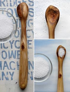 handcrafted driftwood spoon