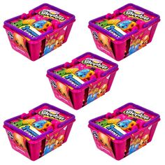 Go on a shopping spree with this pack of 2 Shopkins Minifigures x5. Shopkins are tiny, quirky characters who are based on your favourite shopping items. Theyre very collectable, and you get 10 of thes
