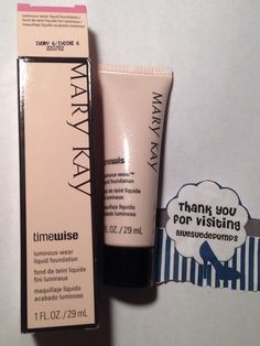 Mary Kay Timewise Luminous Wear Liquid Foundation IVORY 6 full size  1 fl oz #MaryKay