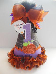 Lil' Pumpkin Halloween Party Hat by SandysSpecialtyShop 1st Birthday Themes Girl, Birthday Hats, 1st Birthday Parties, 2nd Birthday, Birthday Ideas, Twin Halloween, Halloween Birthday, Halloween Party Decor, Pumpkin 1st Birthdays