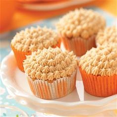 Pumpkin Spice Cupcakes with Cream Cheese Frosting Recipe -This is a wonderful recipe I discovered and changed a bit to suit my taste. I love the flavor of pumpkin and the cinnamon makes ordinary cream cheese frosting extra special. When I made a batch for my husband to take to work, he said they disappeared in record time.—Debbie Wiggins, Longmont, Colorado