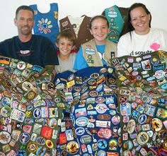 Girl Scout patches become family keepsake blankets - love this idea
