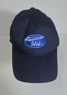 8bc286fd7b3 American Idol Fox Television Show Blue Baseball Cap Hat Velcro Adjustable  NWOT  Unknown  BaseballCap