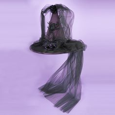 "18.5""BLACK/PURPLE #HALLOWEEN #WITCHHAT   # HW1435"