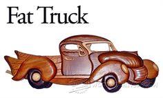 Fat Truck - Intarsia Projects, Tips and Techniques | WoodArchivist.com