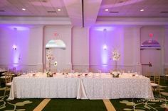 Our large ballroom offers a variety of set up options.  Your wedding specialist will work directly with you on creating the lay out that best fits your needs!