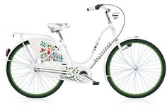This is the bike I want! Electra Amsterdam Classic: Awesome bike featuring artwork by Alexander Girard. Electra Bicycles, Electra Bike, Electra Amsterdam, Amsterdam Bicycle, Dutch Bike, Alexander Girard, Online Bike, Bicycle Women, Ladies Bicycle
