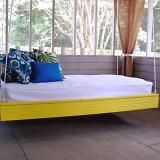 How to make a hanging outdoor bed. Looks pretty easy