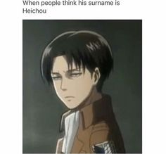 Ackerman. It's Ackerman guys. And his first name is not Rivaille, it's Levi.