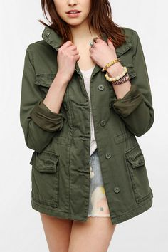 Ecote Classic Surplus Jacket - URBAN OUTFITTERS -  REVIEWS WARNED OF TOO TIGHT SLEEVES - BOUGHT [ NWOT ]  FOR CHEAP !  -  WILL MAKE VEST + WEAR WITH NEW PLAID SHIRT - eBAY