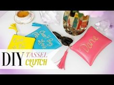 DIY Rebecca Minkoff Inspired Tassel Clutch - ANNEORSHINE - YouTube