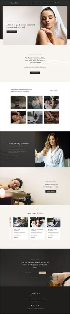 Luxury is clean and modern design responsive #WordPress theme for beauty #spa and #wellness resorts website download now..