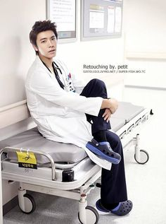 "Donghae's new drama ""God's Quiz""  eeee!!! i always said he would look really good as a doctor"