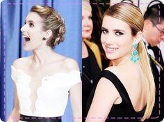 Emma Roberts' award-winning updos