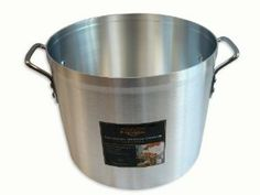 Alegacy Eagleware EW20 Professional Aluminum Stock Pot, 20-Quart by Alegacy. $86.99. Riveted handles are nickel/chrome-plated steel. Beadless rims do not trap food particles. 20-Quart aluminum alloy stock pot. Riveted handles are nickle/chrome-plated steel. Lid No. EWC20 sold separately. Measures 12 by 10-5/8-Inch. Eagleware offers a wide range of stock pots for nearly every cooking application. The 3004 aluminum alloy provides extra dent-resistance to enhance du...