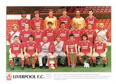 The 1986-87 Liverpool FC squad picture. #LFC