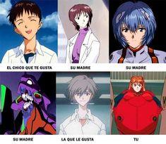Neon Genesis Evangelion, Rei Ayanami, Troll, Pixar, Chibi, Spanish Memes, Anime Comics, Anime Manga, Dreamworks