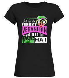 Verrückte Veganerin / Vegan  Funny Tiger T-shirt, Best Tiger T-shirt
