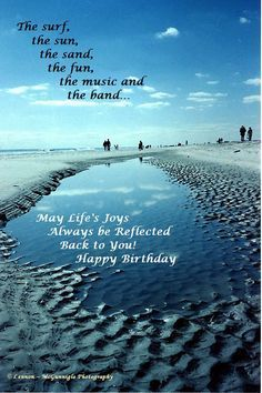 9 Best Happy Birthday Beach Images