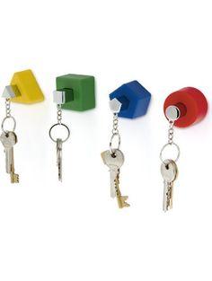 j-me Shapes Key Holders - 4 Different Shaped Key Holders and Key Rings (Colors) ❤ j-me original design