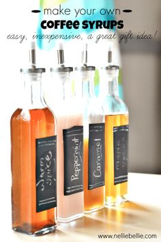 Homemade Flavored Syrups | Flavored Coffee Syrup