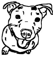 Free Pit Bull Line Art 10 by Wolfie-Undead