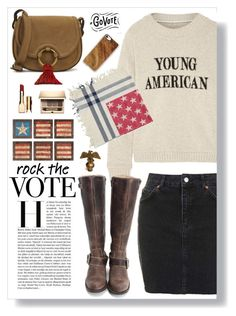 """""""Rock The Vote"""" by mmk2k ❤ liked on Polyvore featuring The Elder Statesman, Forever 21, Topshop, John Fluevog, Tory Burch, Clarins, Casetify and rockthevote"""