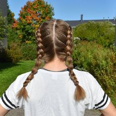 Braids & Hair by @terttiina Instagram: dutch braids with bubbles on her crimped hair!