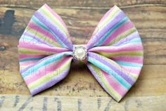sparkly lavender blue lime & pink by AdoraBowsByLeilaHale on Etsy, $7.00