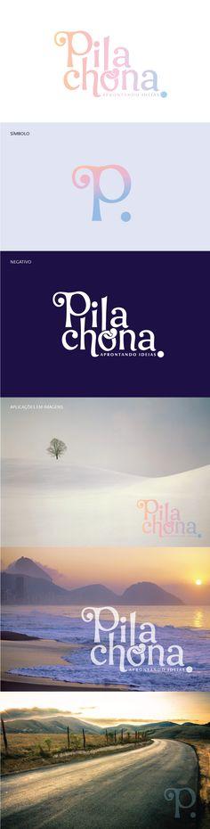 Lettering para a identidade visual do site Pilachona, feito em 2014.