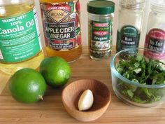 Cilantro Lime Vinaigrette. I actually made this dressing tonight for a salad with lettuce, tomatoes, corn, blackbeans, and avocado. The tanginess of the dressing and the creaminess of the avocado went together so well. I will definitely make it again.
