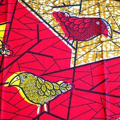 アフリカの布 パーニュ(トリ) - カラフルなアジアン雑貨 笑福Lotus(ワラフクロータス)   エスニック   ベトナム雑貨   アフリカ雑貨   通販
