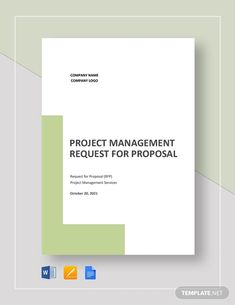 Project Management Request for Proposal Template Project Proposal Template, Proposal Templates, Writing A Business Proposal, Request For Proposal, Grant Proposal, Software Projects, Google Docs, Word Doc, Business Website