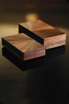 Straw marquetry bronze Seine boxes