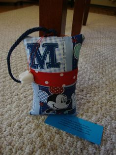 Tooth Fairy Pillow with tooth holder Mickey by suespecialtyshop, $6.95